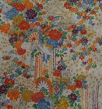 Japanese vintage kimono silk fabric Flower Cart