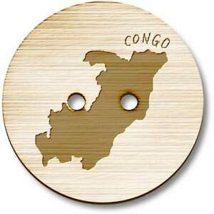 'Congo Country' Wooden Buttons (BT016952)