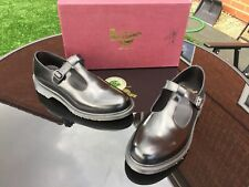 Dr Martens black  T bar leather shoes UK 9 EU 43 England.