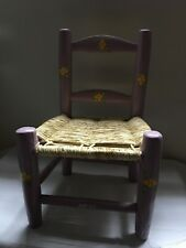 1 PURPLE Wood Chair HAITI LWA VODOU RADA PETRO MAGIC VOODOO CHAIR TI CHèZ LOA