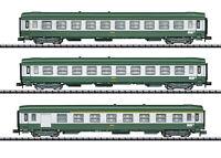 """Minitrix / Trix N 15502 Schnellzugwagen-Set """"Nizza - Paris"""" der SNCF - NEU + OVP"""