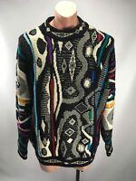 VTG 90s COOGI Australia Wool Cosby BIGGIE MCGREGOR sweater FIRE L Black White