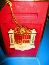 Lenox 2002 Annual Christmas Ornament First Year In New Home-In Box-Collectible