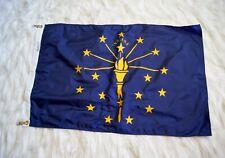New listing Nyl-Glo Indiana State Flag - Nylon Flag Bunting Annin Usa - Flags International