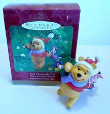 """2000 Hallmark Keepsake Ornament """"Pooh Chooses the Tree"""" Winnie the Pooh MIB"""