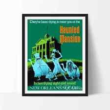 Vintage Disneyland HAUNTED MANSION Attraction Poster Reprint Not Framed 24x36