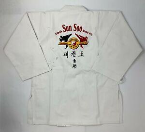 Century Kids Unisex White Size 2 Middleweight Brushed Uniform 10 oz W/Defects