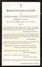 Généalogie Avis de décès Joséphine COURSAULT 15 août 1891 à 37240 Ligueil