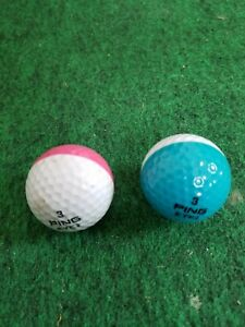 1980's PING EYE 2 dual colored golf balls