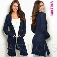 Sexy Womens Cardigan Soft Jumper Jacket Sweater Casual Party Size 8 10 12 S M L