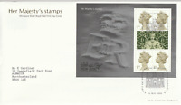 23 MAY 2000 HER MAJESTYS STAMPS MINIATURE SHEET ROYAL MAIL FDC BUREAU SHS (d)