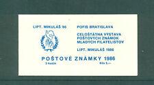 Czechoslovakia 1986 5k Mikulas 86 blue  Booklet