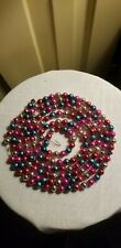 """Antique Mercury Glass Multi-Color Feather Tree Garland Strand approx 91"""""""
