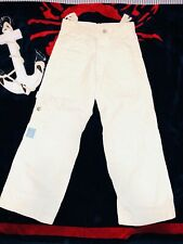New listing Oilily Boys Off White Adjustable Waist Pants 7-8 Euro 128 Selling Tons!