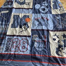 Disney Mickey Mouse Sports Blue Comforter Full Twin Bedding Kids Bed Blanket