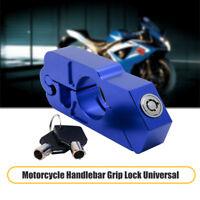 Lucchetto Blocca da Manubrio Leva Freno Moto Scooter Antifurto Protezione Blu
