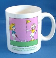 Golf Gifts, Coffee Cup/Mug Humorous, Sports, Women on Putting Green
