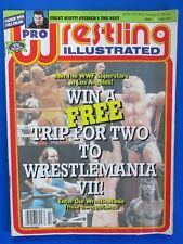 1991 PRO WRESTLING ILL Magazine Feb GVG Hulk Hogan Ultimate Warrior Earthquake
