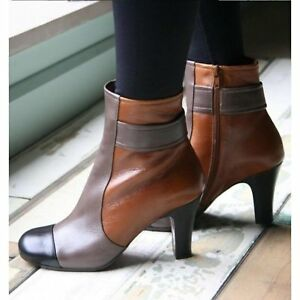 CHIE MIHARA SHOES QUEIJA COLORBLOCK BOOTIES CAMEL LEATHER ANKLE BOOT 38 $540