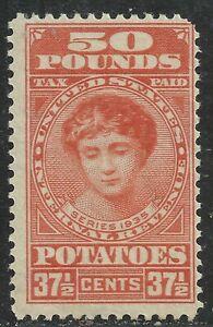 U.S. Revenue Potato Tax stamp scott ri9 -  37 1/2 cents/50 pounds issue - mnh #4