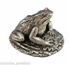 925 Sterling Silver Frog Figure.