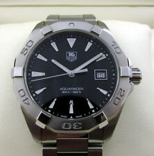 Tag Heuer Aquaracer Gents Watch Black WAY1110 RRP £1250 Boxed & Papers