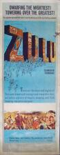 ZULU insert movie poster 14x36 MICHAEL CAINE STANLEY BAKER 1964