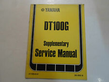 1980 Yamaha DT100G Supplementary Service Manual FACTORY OEM BOOK 80 DEALERSHIP