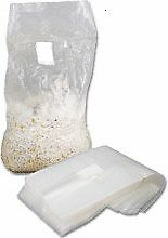 "Mushroom spawn /grow bags 100 bags .2 Micron filter 19""x 8""x 4 1/2"" side gusset"