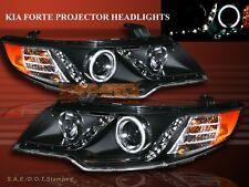 FIT 10-13 FORTE COUPE/ FORTE RIM CCFL HALO LED PROJECTOR HEADLIGHTS BLACK 11 12