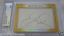 Jack Nicklaus Ray Floyd 2014 Leaf Masterpiece Cut Signature signed card 1/1 JSA
