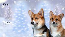 Corgi (Pembroke) Christmas Labels by Starprint