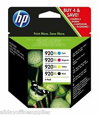 GENUINE ORIGINAL HP 920XL Black Cyan Magenta & Yellow Ink (C2N92AE) VAT included