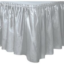 Item 2   TABLESKIRT~TABLECOVER~20 COLOURS~PLASTIC PARTY TABLE SKIRTS COVERS  CLOTH