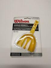 Mouth Guard Adult Wilson Yellow Single Density Strap Football Hockey Sports