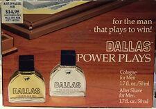 Dallas Power Plays Cologne 1.7 fl oz, After Shave oz set pl read below