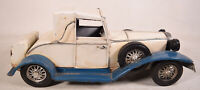 Vintage Model Toy Car Metal Classic Rolls Royce Handmade Vehicles White Blue