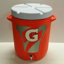 Gatorade  Rubbermaid Water Sideline Cooler Water Beverage Jug Orange - 10 Gallon