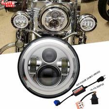 "Kawasaki VN Vulcan 500 750 800 900 1500 1600 7"" Chrome LED Headlight Light Hi/Lo"