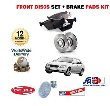 FOR LEXUS IS200 IS300 2.0i 1/1999-12/2005 NEW FRONT BRAKE DISCS + DISC PADS SET