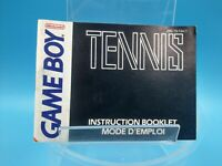 jeu video notice BE nintendo gameboy tennis FAH-3