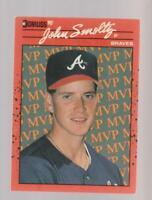 1990 Donruss Error #BC-12 John Smoltz / Tom Glavine card, Atlanta Braves