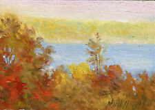 Seneca Lake View  from Taughannock Farms Inn  5x7 in.Oil on panel  HALL GROAT II