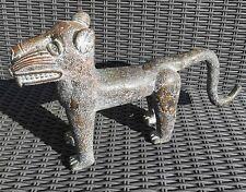 More details for stunning large benin antique bronze leppard statue african 2.4kg