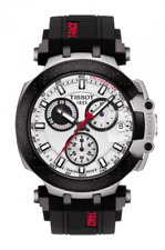 AUTHENTIC TISSOT T-RACE CHRONOGRAPH RUBBER BAND MEN'S WATCH T115.417.27.011.00