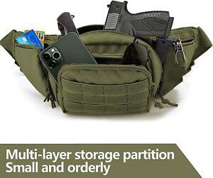 Concealed Carry Fanny Pack Holster Tactical Pistol Waist Pack Bag Gun Holster