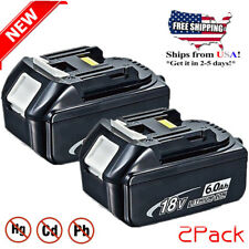 2x18V 6.0AH Battery For Makita BL1860 BL1830 LXT Lithium Ion Cordless Heavy Duty