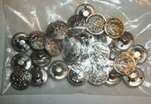 """Lot of 8 Police Uniform Buttons SILVER Tone """"P"""" 5/8 inch  NEW/NOS"""