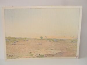 ⭐Israel Vintage Pencil Art Signed Landscape Drawings By YOLA Original Colored ⭐
