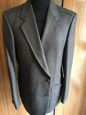 MENS VINTAGE DESCH COUNTRY/HACKING JACKET 42S GREY STRIPE ENGLISH TWEED SUPERB